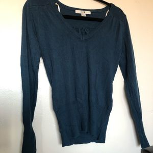4/$15 Forever 21 Blue Long Sleeve Sweater